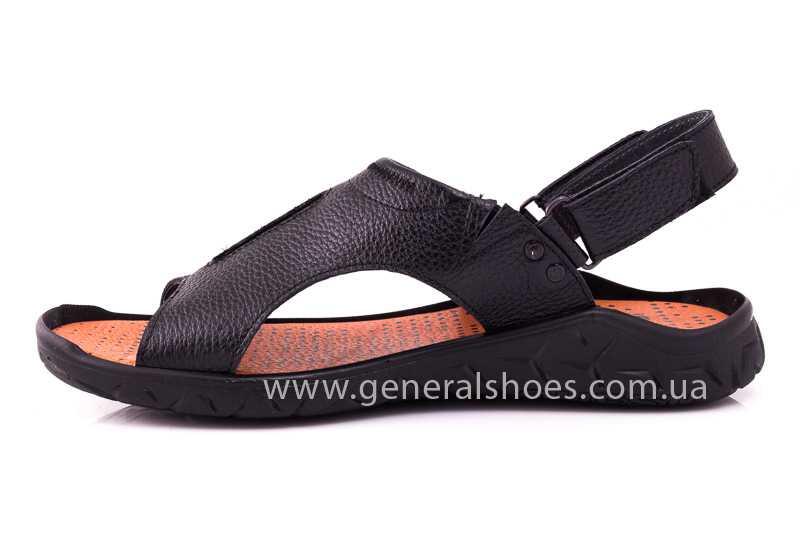 Мужские кожаные сандалии 31 monza blk. фото 5