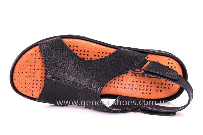 Мужские кожаные сандалии 31 monza blk. фото 6