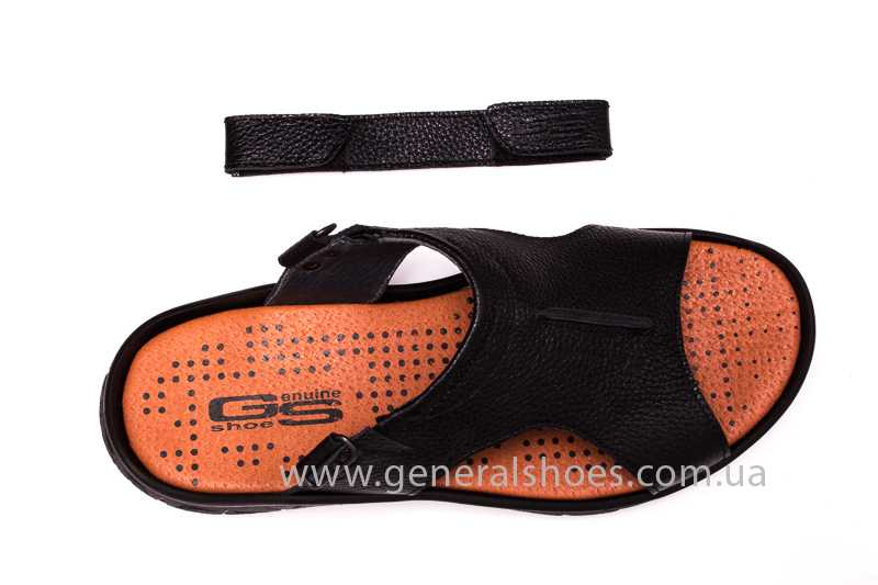 Мужские кожаные сандалии 31 monza blk. фото 8