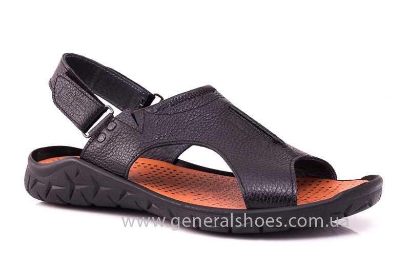 Мужские кожаные сандалии 31 monza blk. фото 1