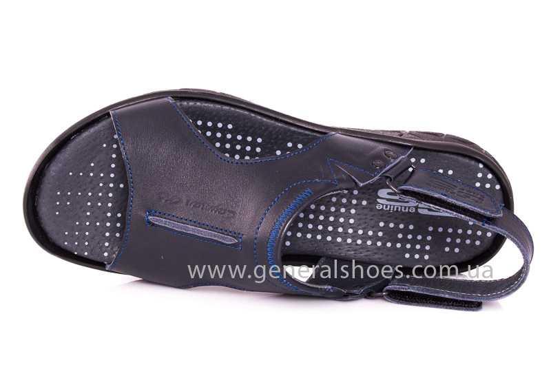 Мужские кожаные сандалии GS 31T blue фото 6