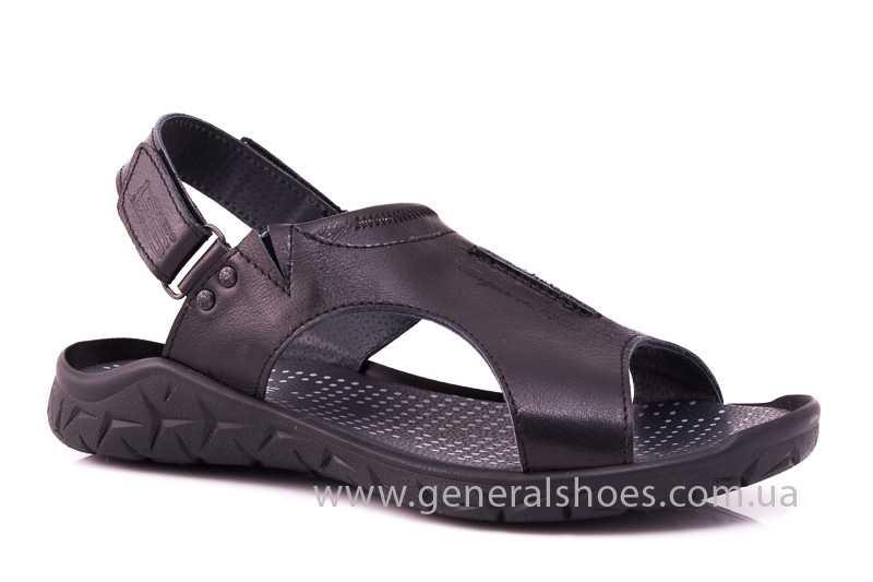 Мужские кожаные сандалии GS 31T blk. фото 1