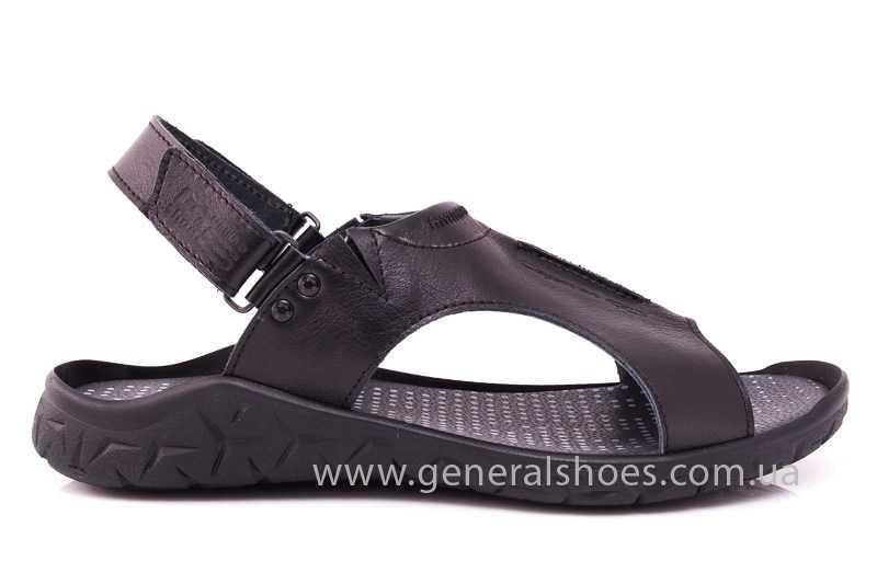 Мужские кожаные сандалии GS 31T blk. фото 2