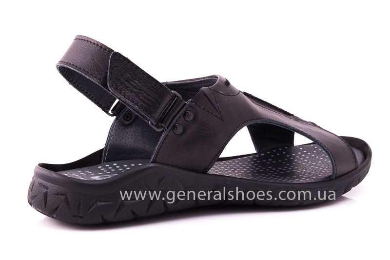 Мужские кожаные сандалии GS 31T blk. фото 3