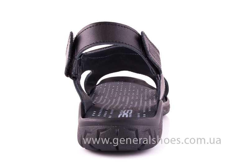 Мужские кожаные сандалии GS 31T blk. фото 4