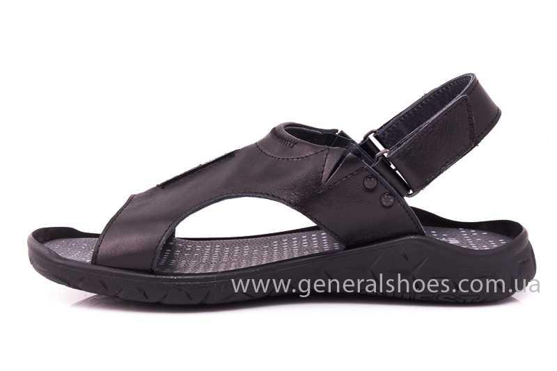 Мужские кожаные сандалии GS 31T blk. фото 5