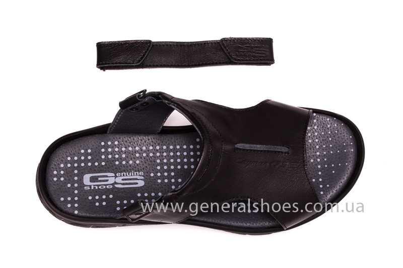 Мужские кожаные сандалии GS 31T blk. фото 7