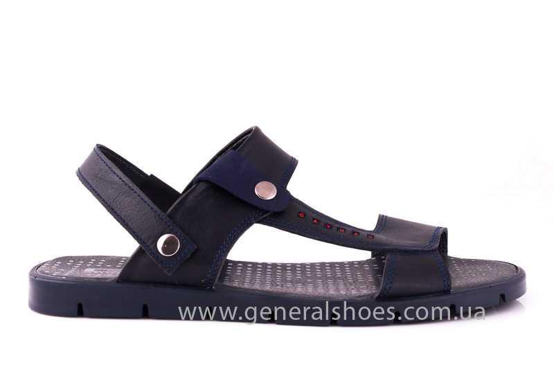 Мужские кожаные сандалии GS 38Т Linkor blue фото 2