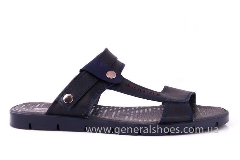 Мужские кожаные сандалии GS 38Т Linkor blue фото 3