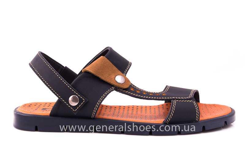 Мужские кожаные сандалии 38V Linkor blue фото 2