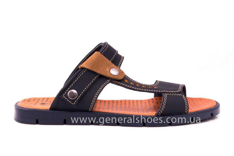 Мужские кожаные сандалии 38V Linkor blue фото 3