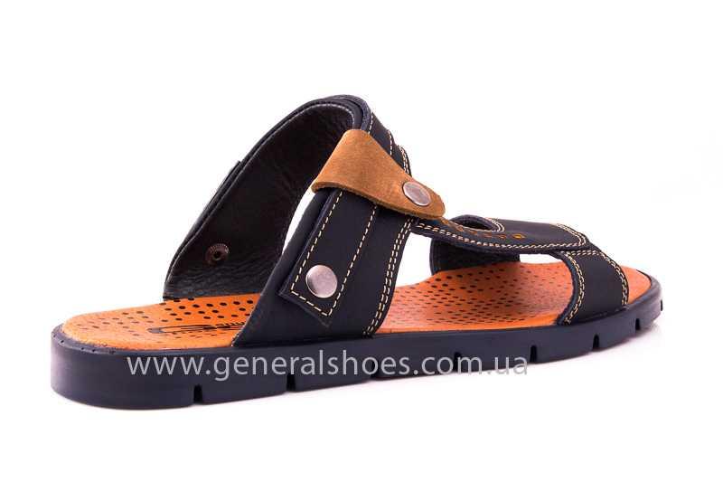Мужские кожаные сандалии 38V Linkor blue фото 4