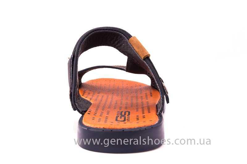 Мужские кожаные сандалии 38V Linkor blue фото 5