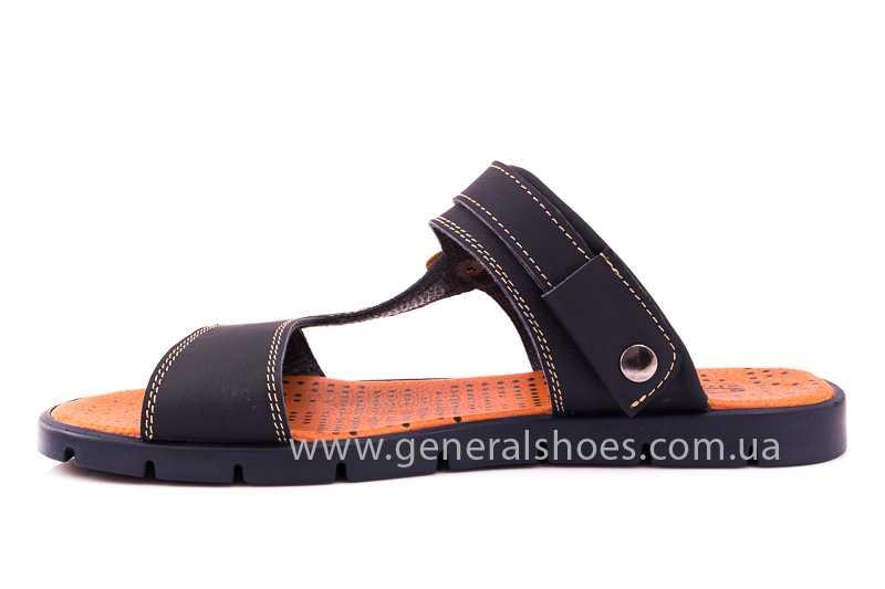 Мужские кожаные сандалии 38V Linkor blue фото 6
