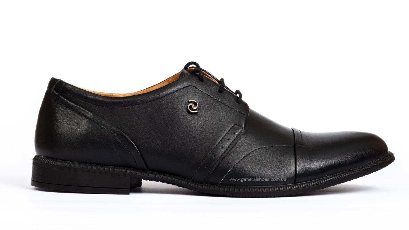 Мужские кожаные туфли Ed-Ge Parker 3 blk. фото 1