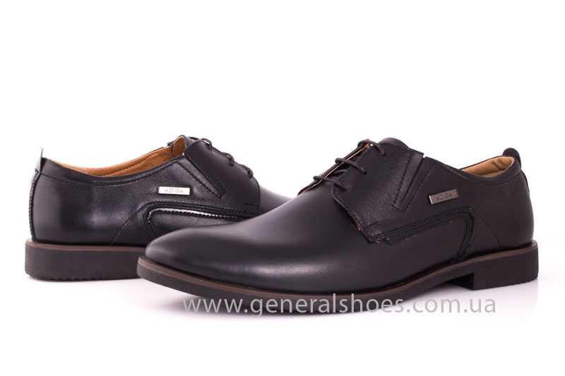 Мужские кожаные туфли Ed-Ge Titan blk. фото 9