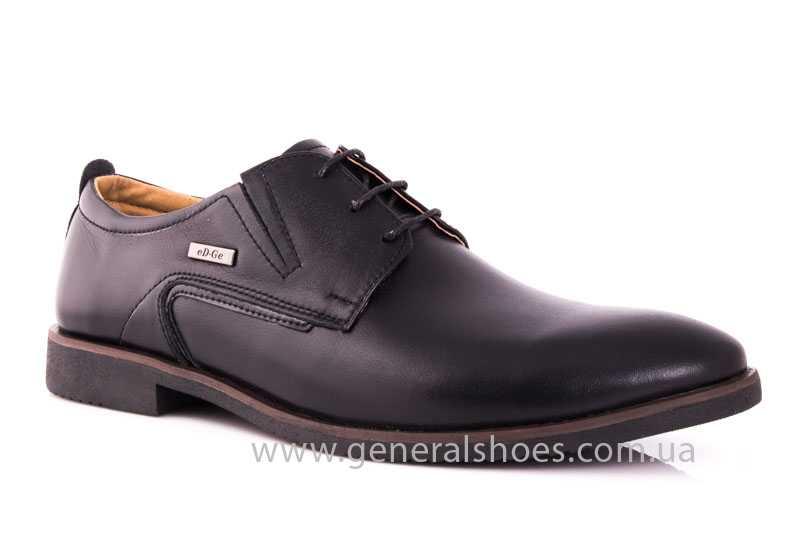 Мужские кожаные туфли Ed-Ge Titan blk. фото 1