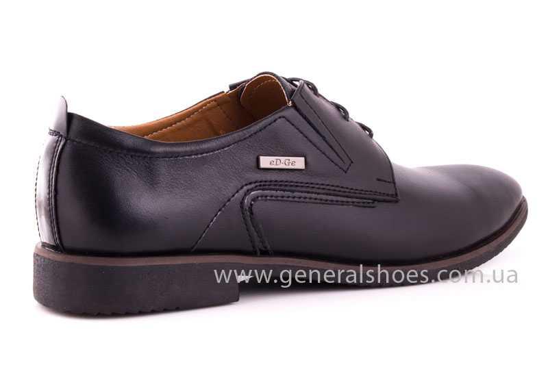Мужские кожаные туфли Ed-Ge Titan blk. фото 3