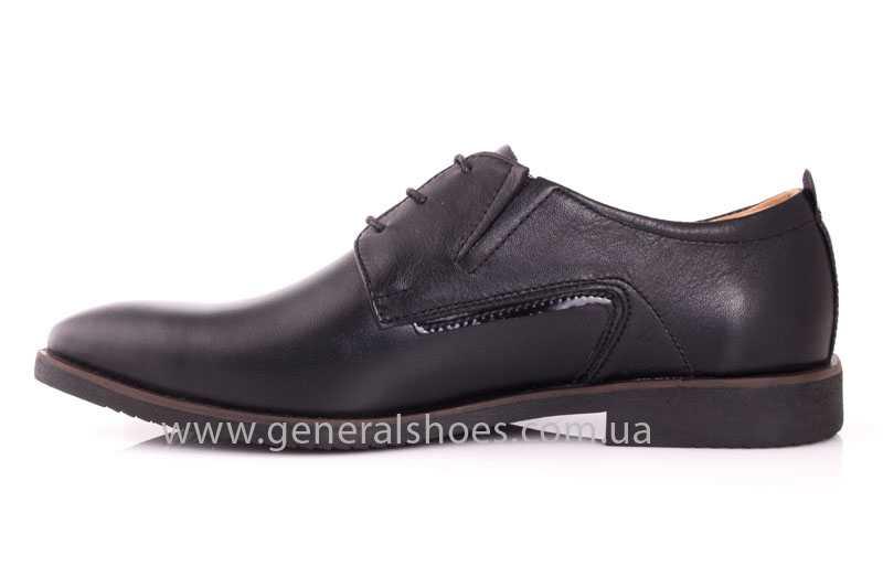 Мужские кожаные туфли Ed-Ge Titan blk. фото 5