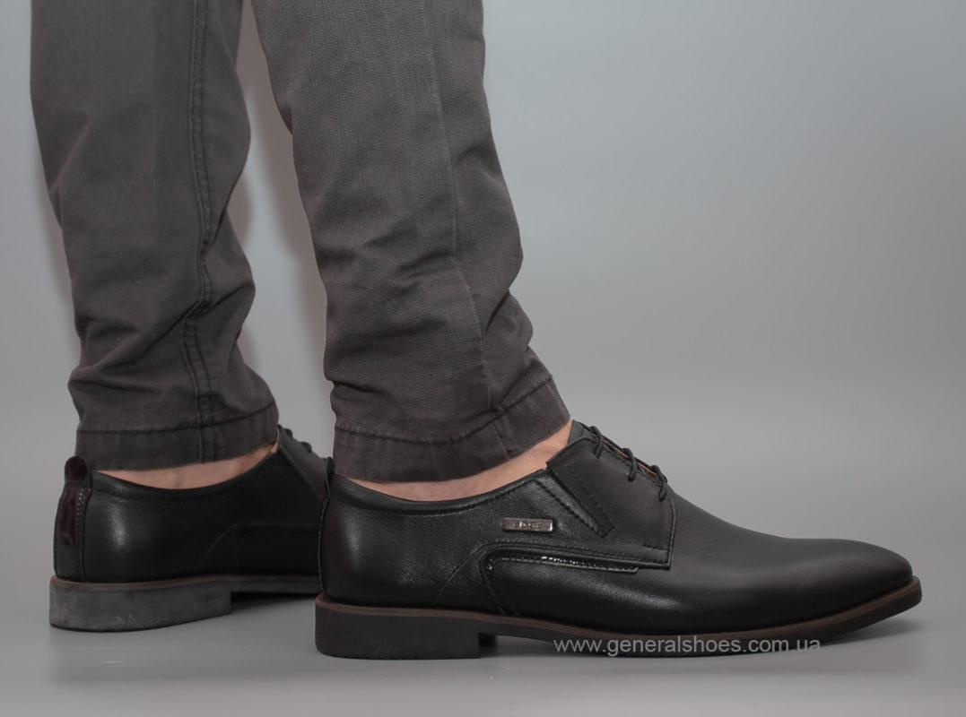 Мужские кожаные туфли Ed-Ge Titan blk.