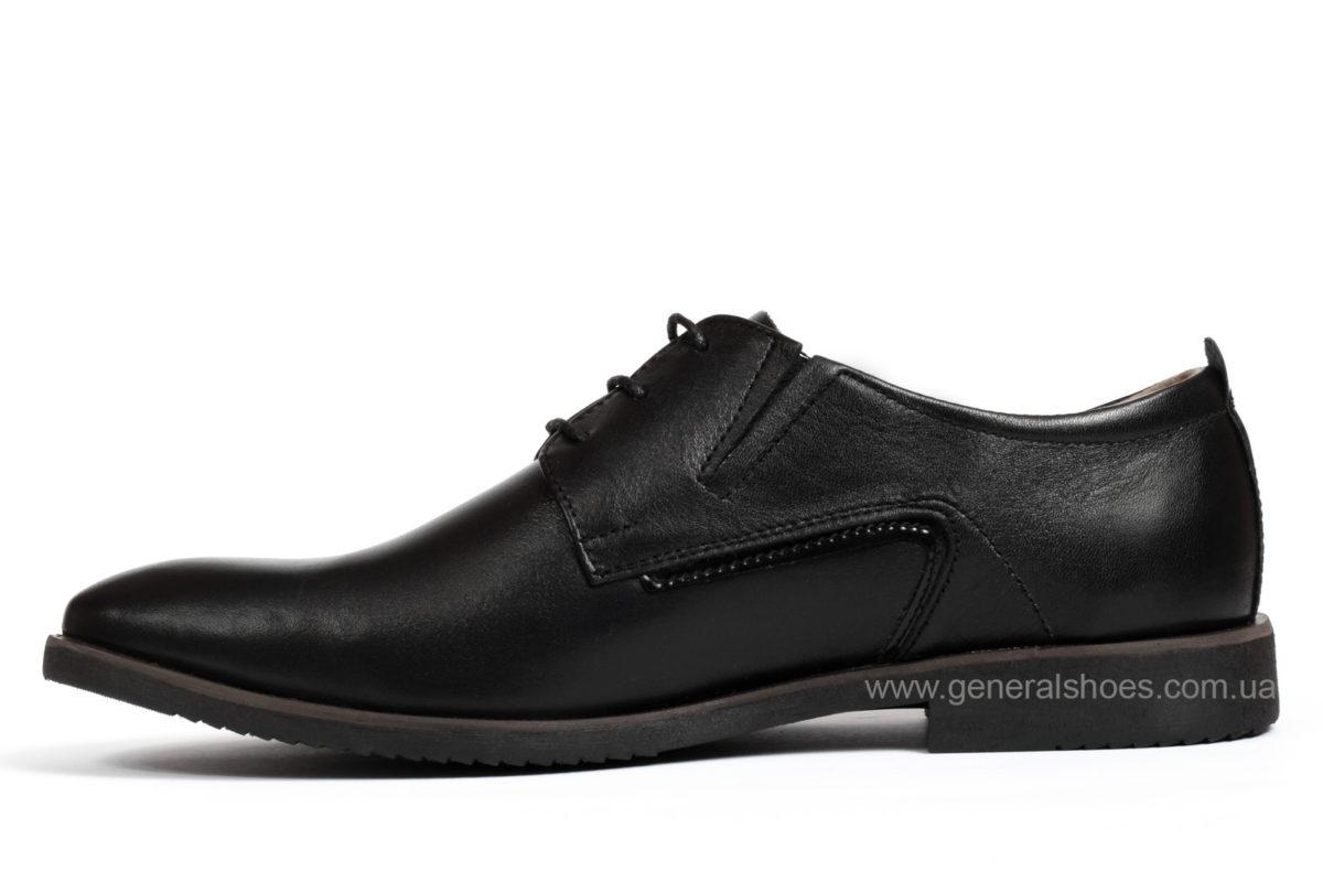 Мужские кожаные туфли Ed-Ge Titan blk. фото 2
