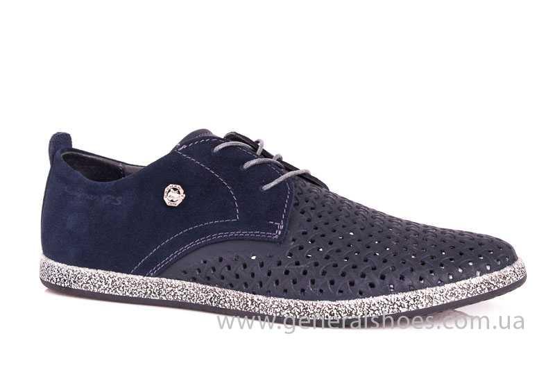 Мужские кожаные туфли GS E2 P Shanghai blue фото 1