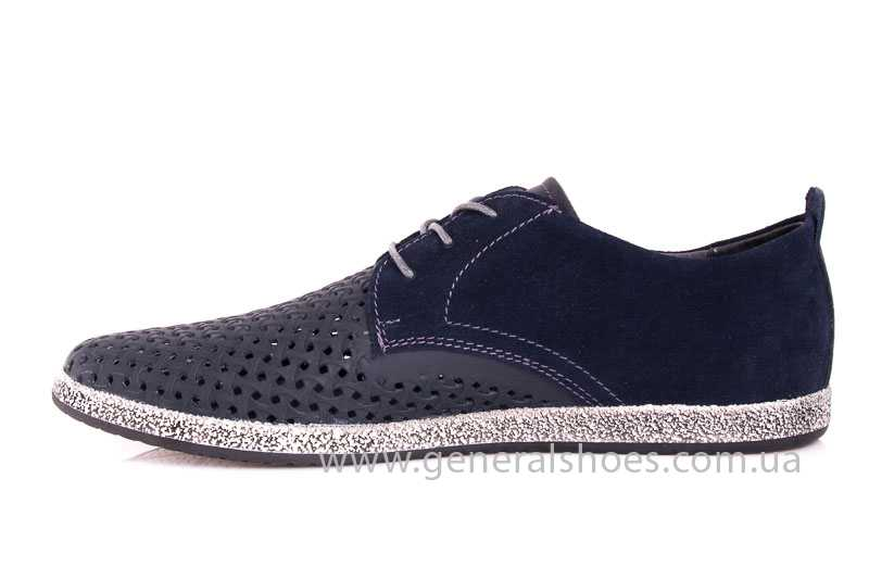 Мужские кожаные туфли GS E2 P Shanghai blue фото 5