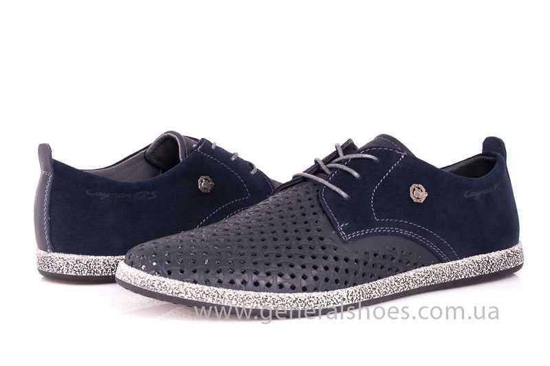 Мужские кожаные туфли GS E2 P Shanghai blue фото 7