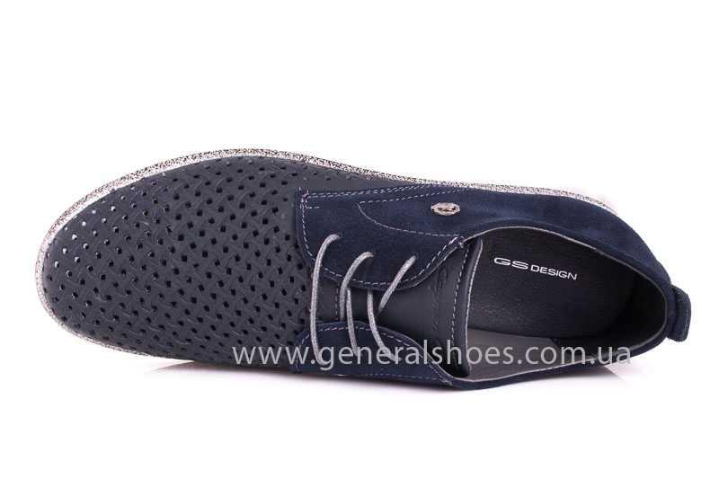 Мужские кожаные туфли GS E2 P Shanghai blue фото 9