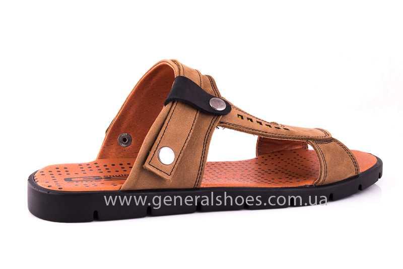 Мужские сандалии из нубука 38 linkor фото 3