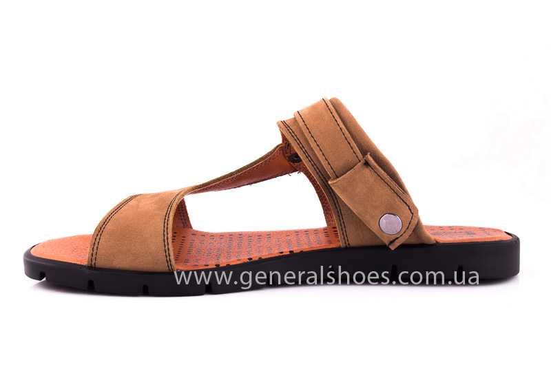 Мужские сандалии из нубука 38 linkor фото 5