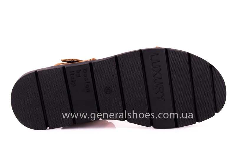 Мужские сандалии из нубука 38 linkor фото 8