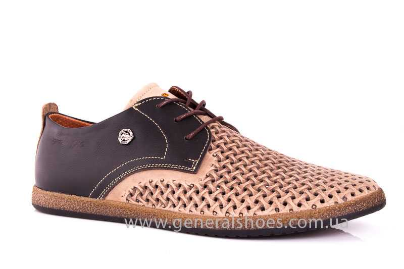 Мужские туфли из нубука GS E2 P Shanghai brb. фото 1