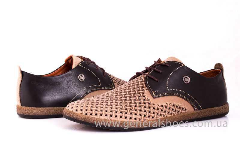 Мужские туфли из нубука GS E2 P Shanghai brb. фото 7