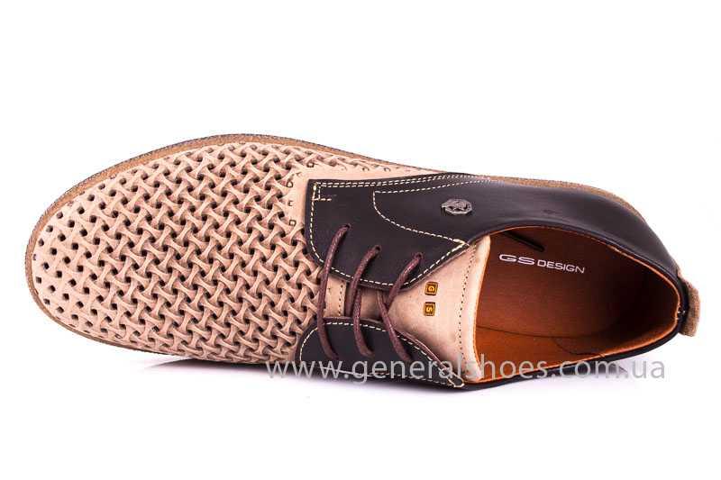 Мужские туфли из нубука GS E2 P Shanghai brb. фото 9