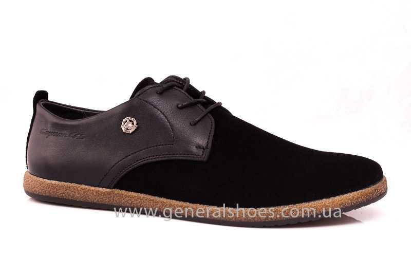 Мужские замшевые туфли E 2 TZ blk. фото 1