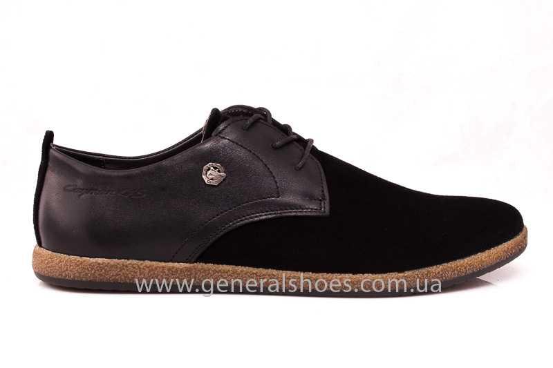 Мужские замшевые туфли E 2 TZ blk. фото 2