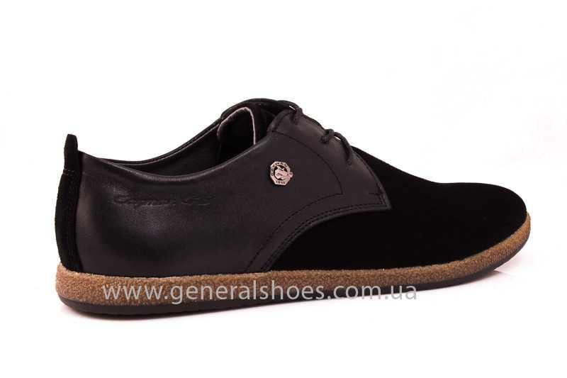 Мужские замшевые туфли E 2 TZ blk. фото 3