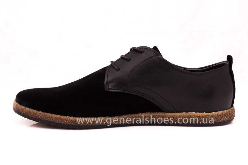 Мужские замшевые туфли E 2 TZ blk. фото 5