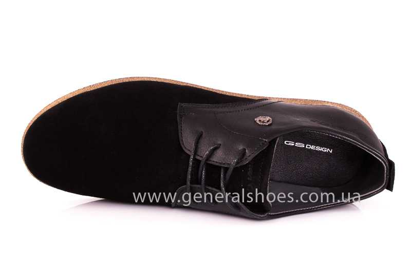 Мужские замшевые туфли E 2 TZ blk. фото 6