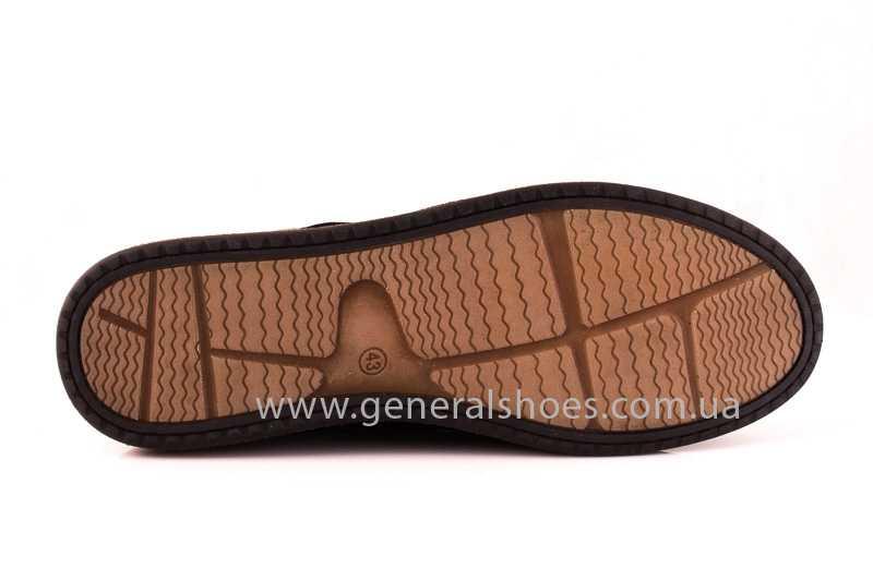 Мужские замшевые туфли E 2 TZ blk. фото 7