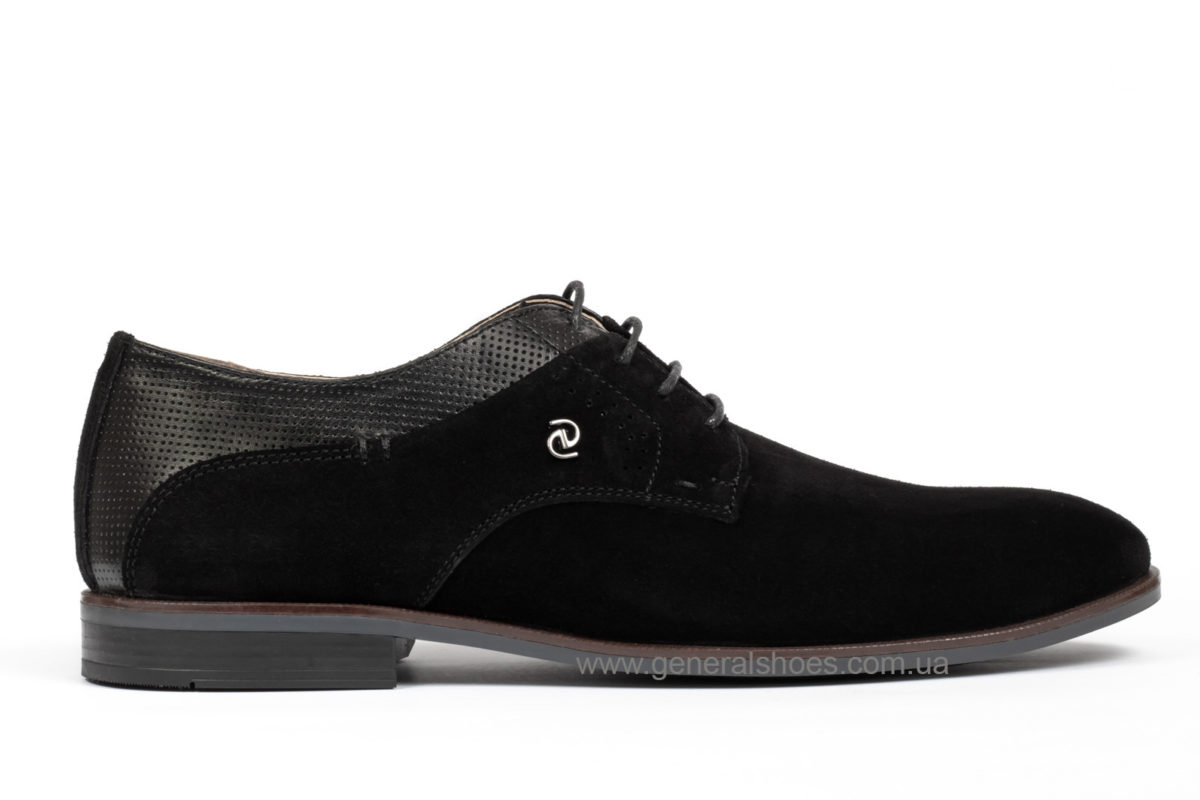 Мужские замшевые туфли Ed-Ge Boston blk.z. фото 1