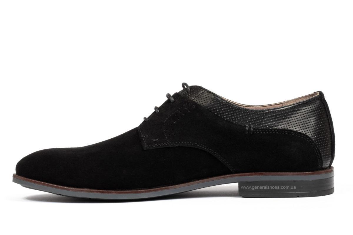 Мужские замшевые туфли Ed-Ge Boston blk.z. фото 3