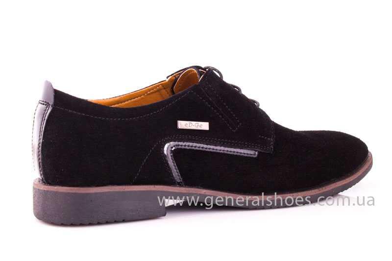 Мужские замшевые туфли Ed-Ge Titan blk.z. фото 3