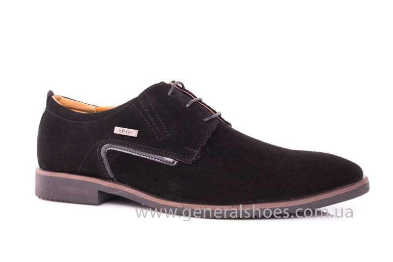 Мужские замшевые туфли Ed-Ge Titan blk.z. фото 1