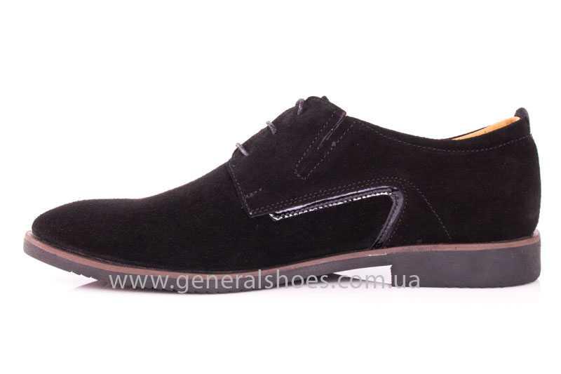 Мужские замшевые туфли Ed-Ge Titan blk.z. фото 5