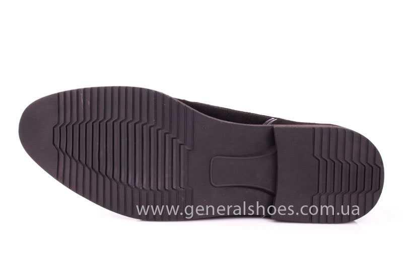 Мужские замшевые туфли Ed-Ge Titan blk.z. фото 10