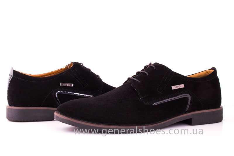 Мужские замшевые туфли Ed-Ge Titan blk.z. фото 9
