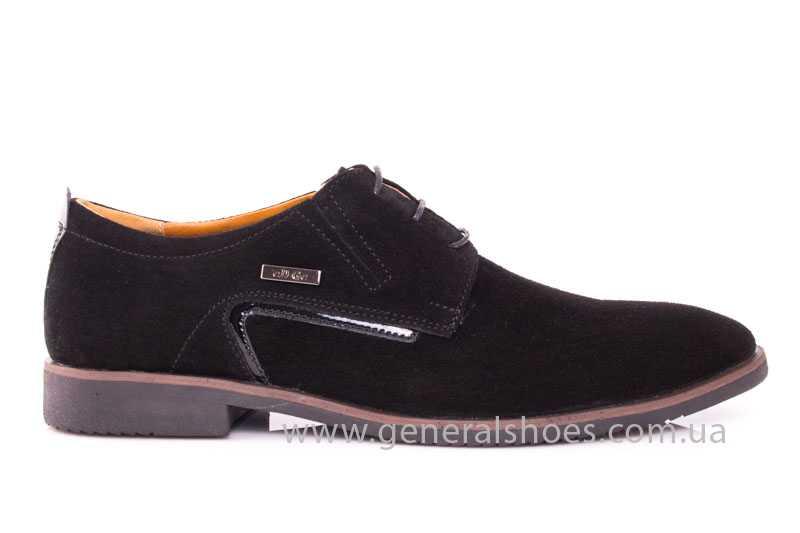 Мужские замшевые туфли Ed-Ge Titan blk.z. фото 2