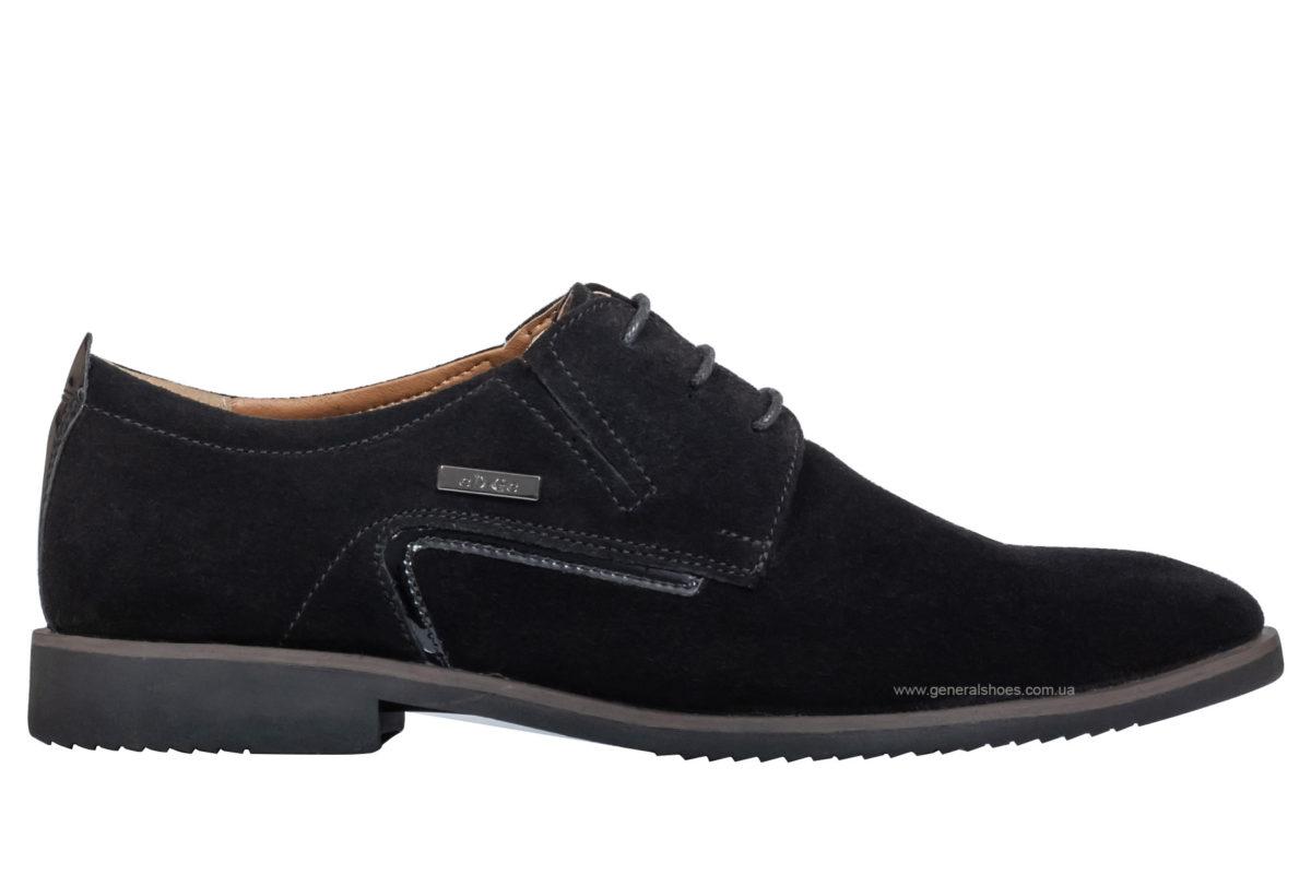 Мужские замшевые туфли Ed-Ge Titan blk.z фото 1
